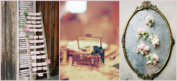 Vintage French wedding props from Vintage Ambiance