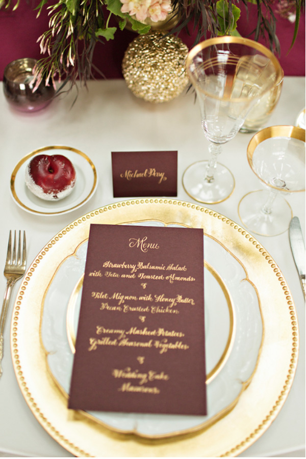 Vintage gold tableware from Vintage Ambiance_Courtney Bowlden Photography