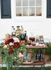 Vintage bar cart from Vintage Ambiance